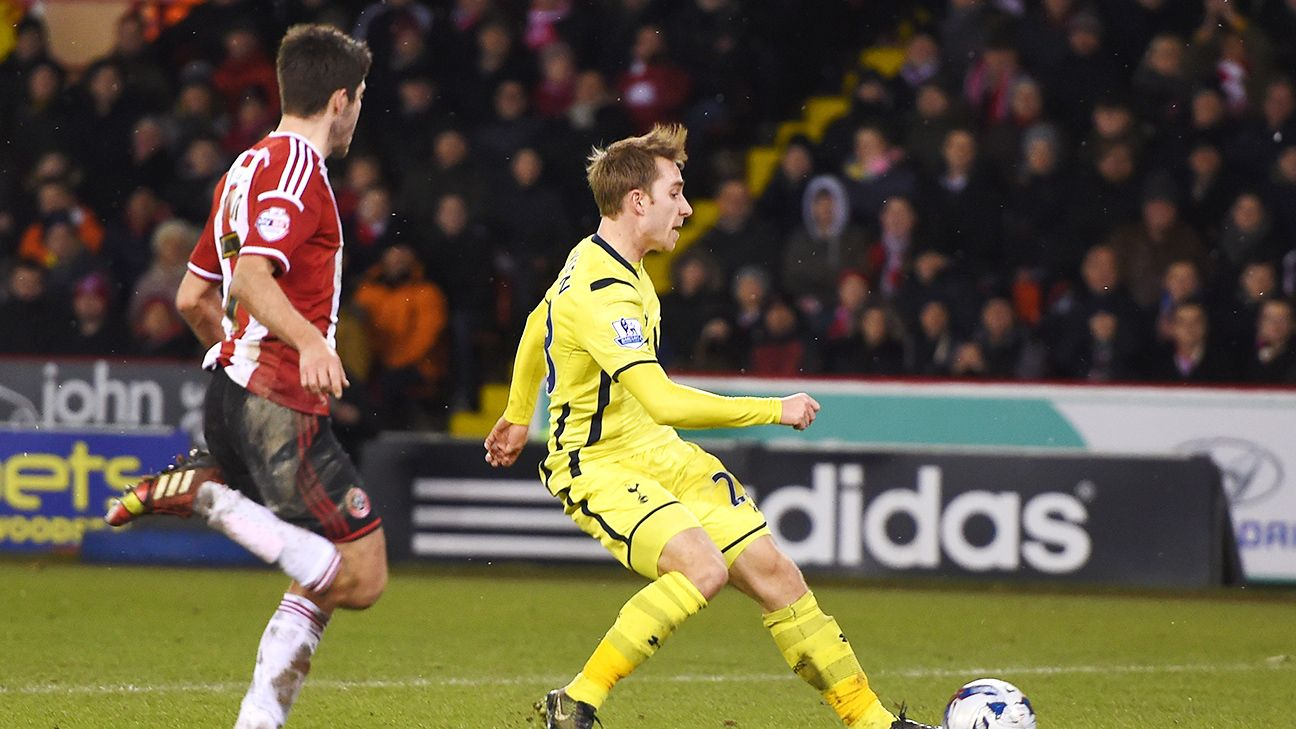 Christian Eriksen's late strike secured Tottenham's Capital One Cup final date versus Chelsea.
