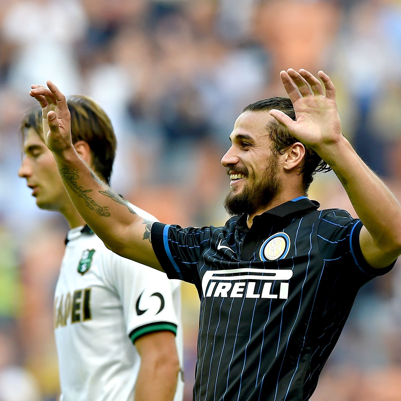 Inter's last meeting with Sassuolo ended with a 7-0 victory for Dani Osvaldo and the Nerazzurri.