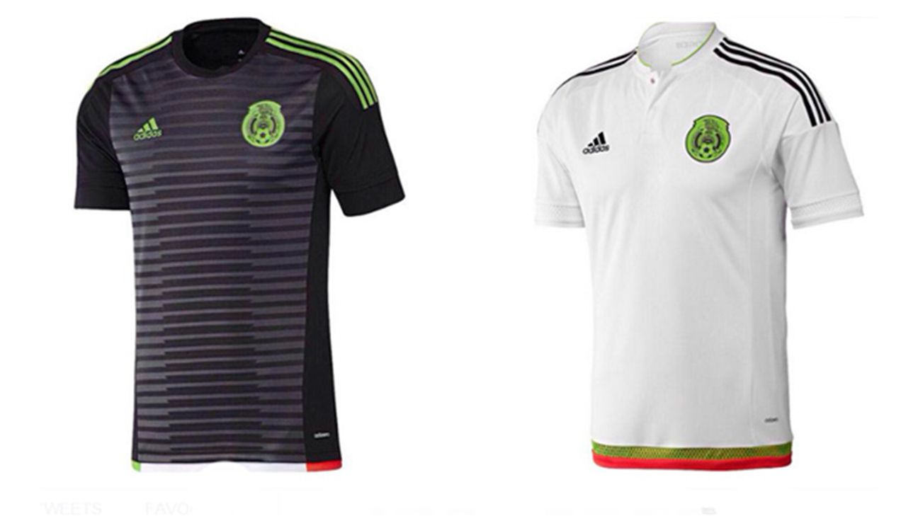 Mexico's new jerseys for 2015.