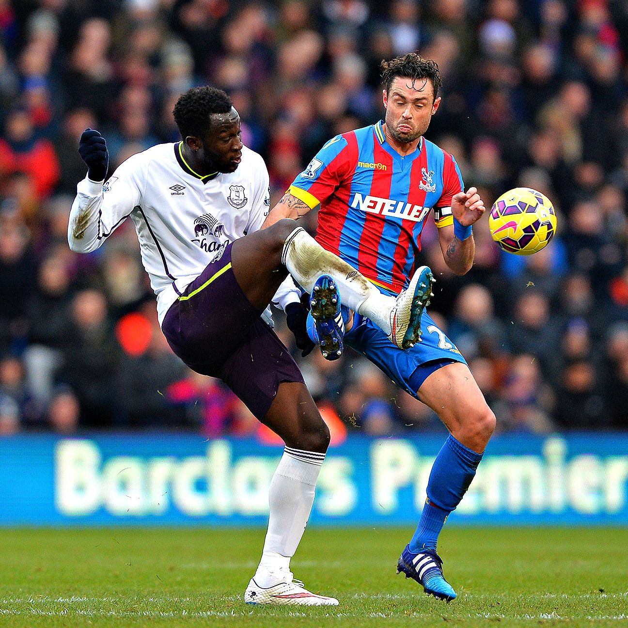 An early error from Crystal Palace's Damien Delaney, right, proved decisive in Saturday's loss to Everton.