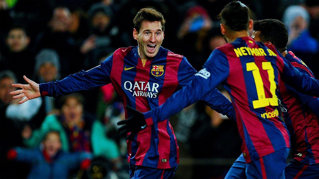Barcelona's Neymar grateful for Lionel Messi penalty gesture