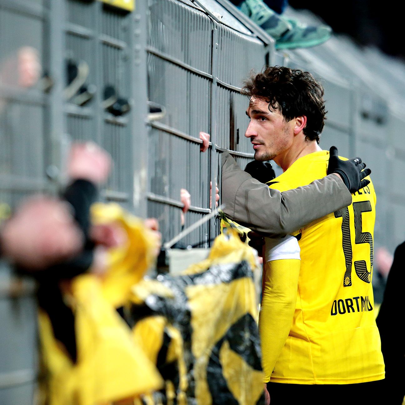 Borussia Dortmund defender Mats Hummels tried to calm down upset fans after his team's latest defeat.