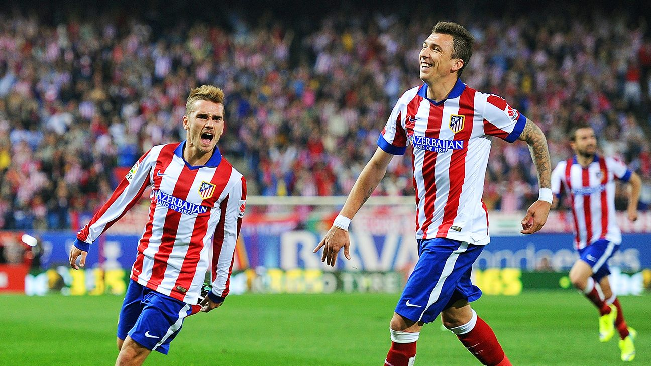 After a slow start, Antoine Griezmann, left, and Mario Mandzukic, right, are thriving together in La Liga for Atletico.