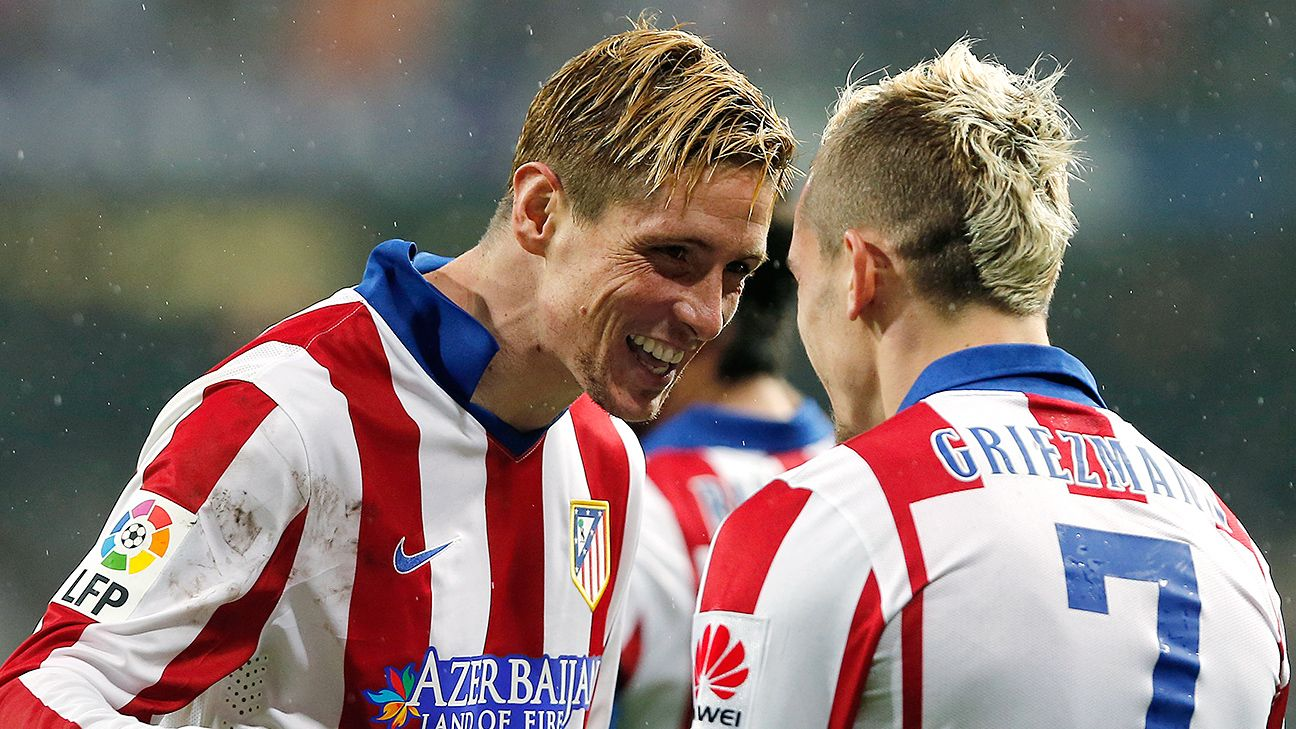 Fernando Torres and Griezmann teamed up to knock Real Madrid out of the Copa del Rey last month.