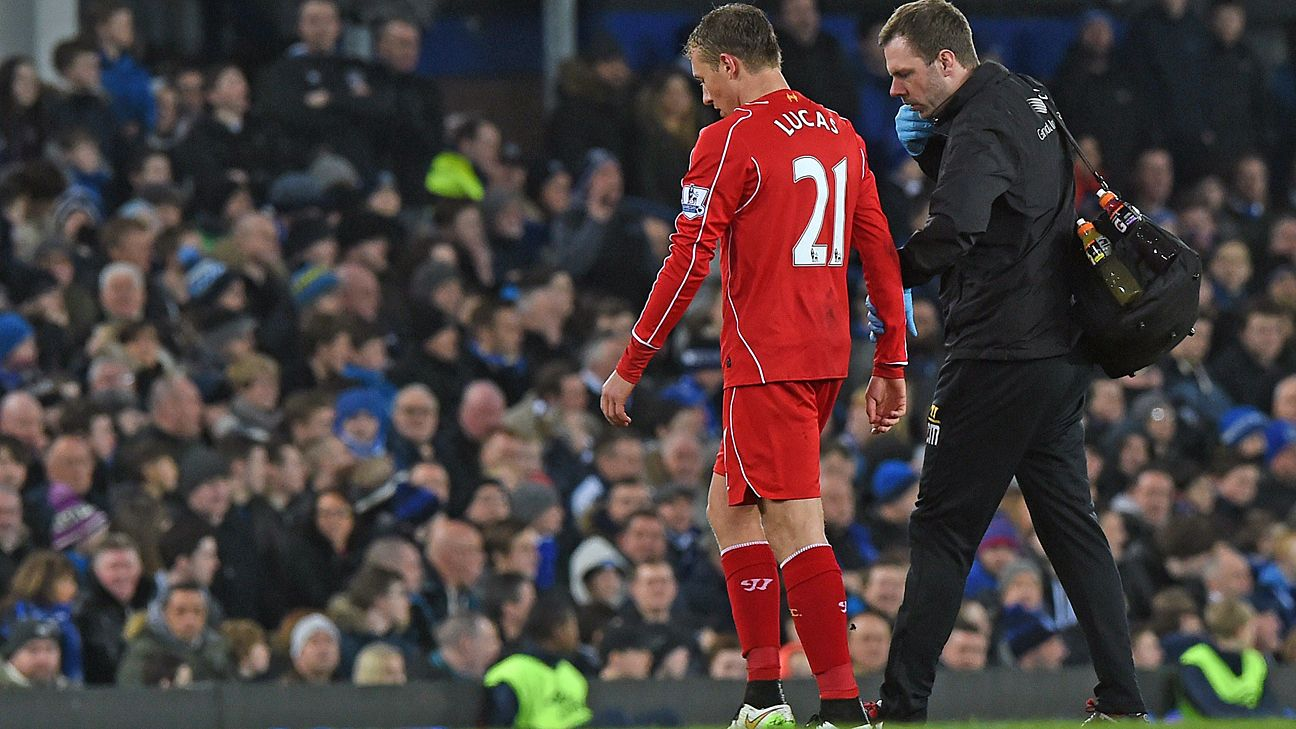 Injuries exacted a toll on Lucas' progress at Anfield.