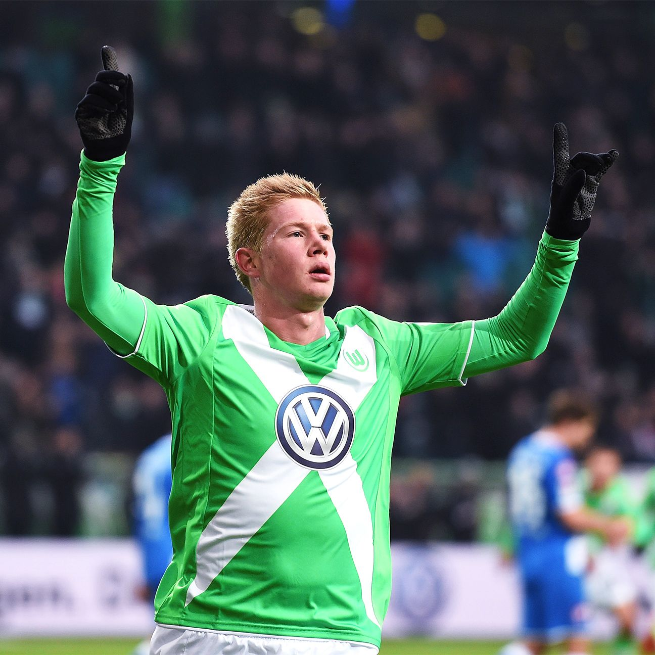 Kevin De Bruyne of Wolfsburg leads the Bundesliga with 93 total chances created.