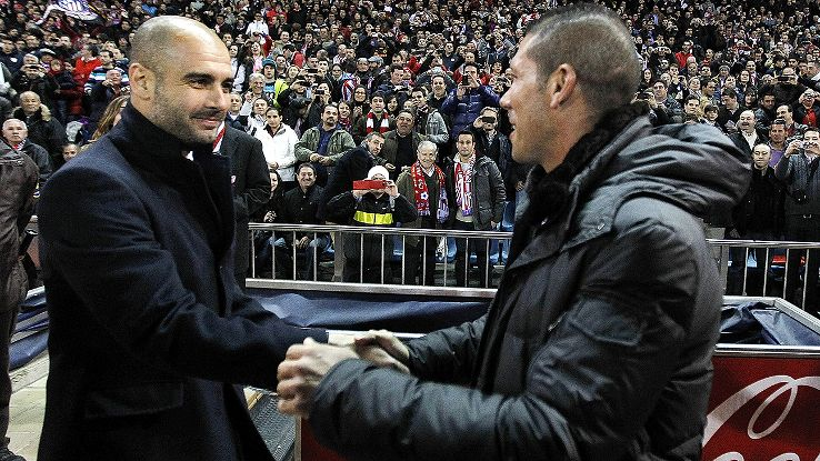 Photo of Diego Simeone & his friend  Pep Guardiola