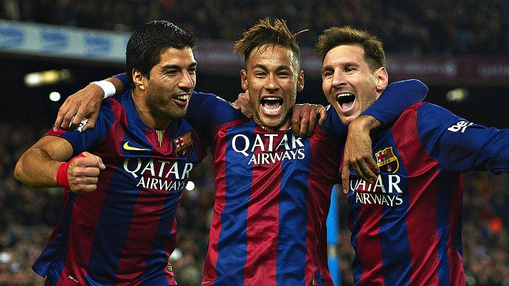 The trio of Luis Suarez, Neymar and Lionel Messi are closing in on 100 goals for the season.