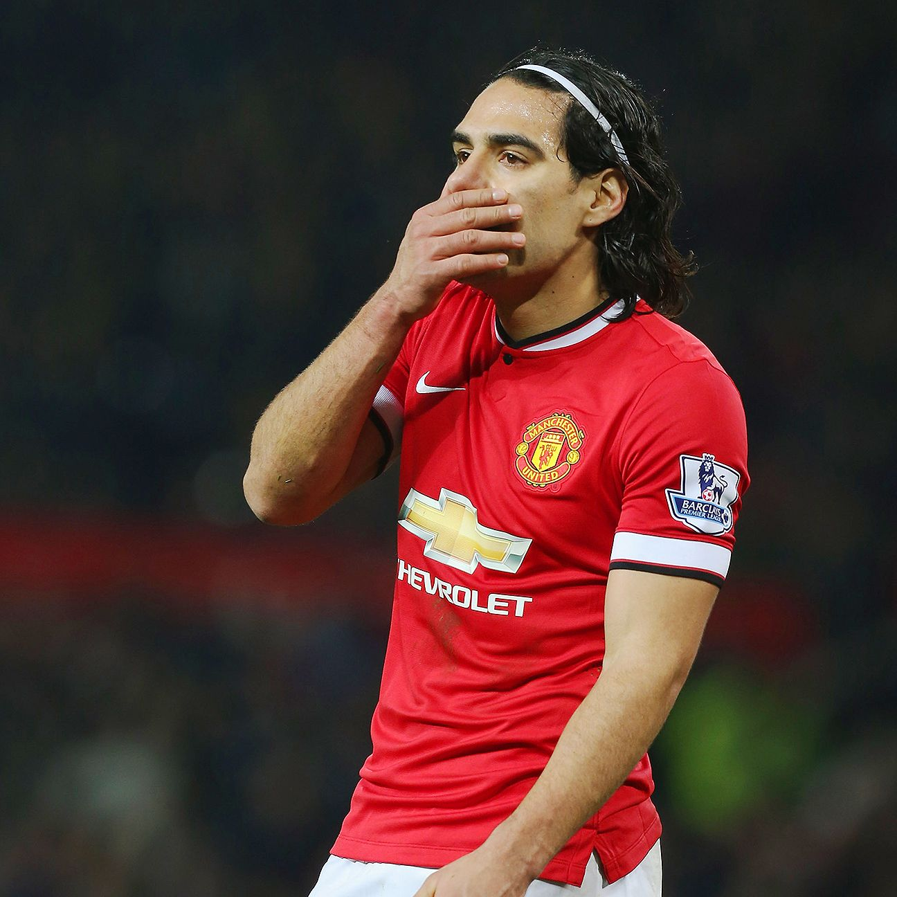 Radamel Falcao only scored four Premier League goals for Manchester United in 2014-15.