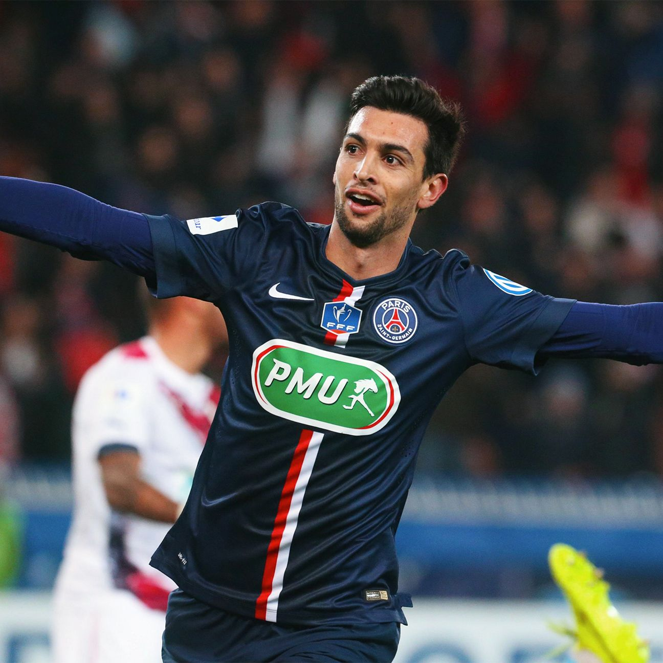 Javier Pastore started 31 Ligue 1 matches for PSG in 2014-15.