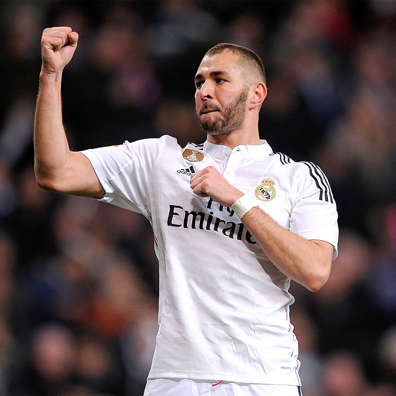 Karim Benzema scored 15 goals in La Liga in 2014-15 for Real Madrid, who mostly played with a 4-3-3 under Carlo Ancelotti.