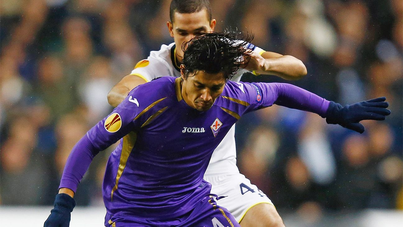 Matias Fernandez and Fiorentina had little time over the ball against Tottenham.
