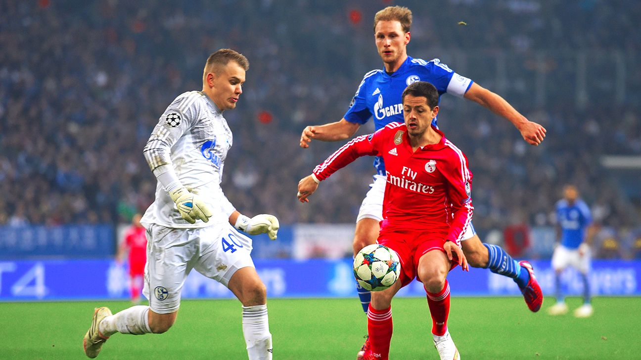 Chicharito received some rare playing time in Real Madrid's Champions League win at Schalke.