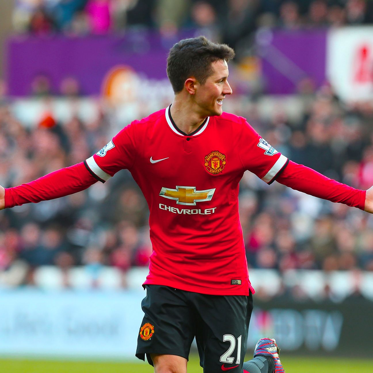 Midfielder Ander Herrera was one of the few bright spots for Manchester United.