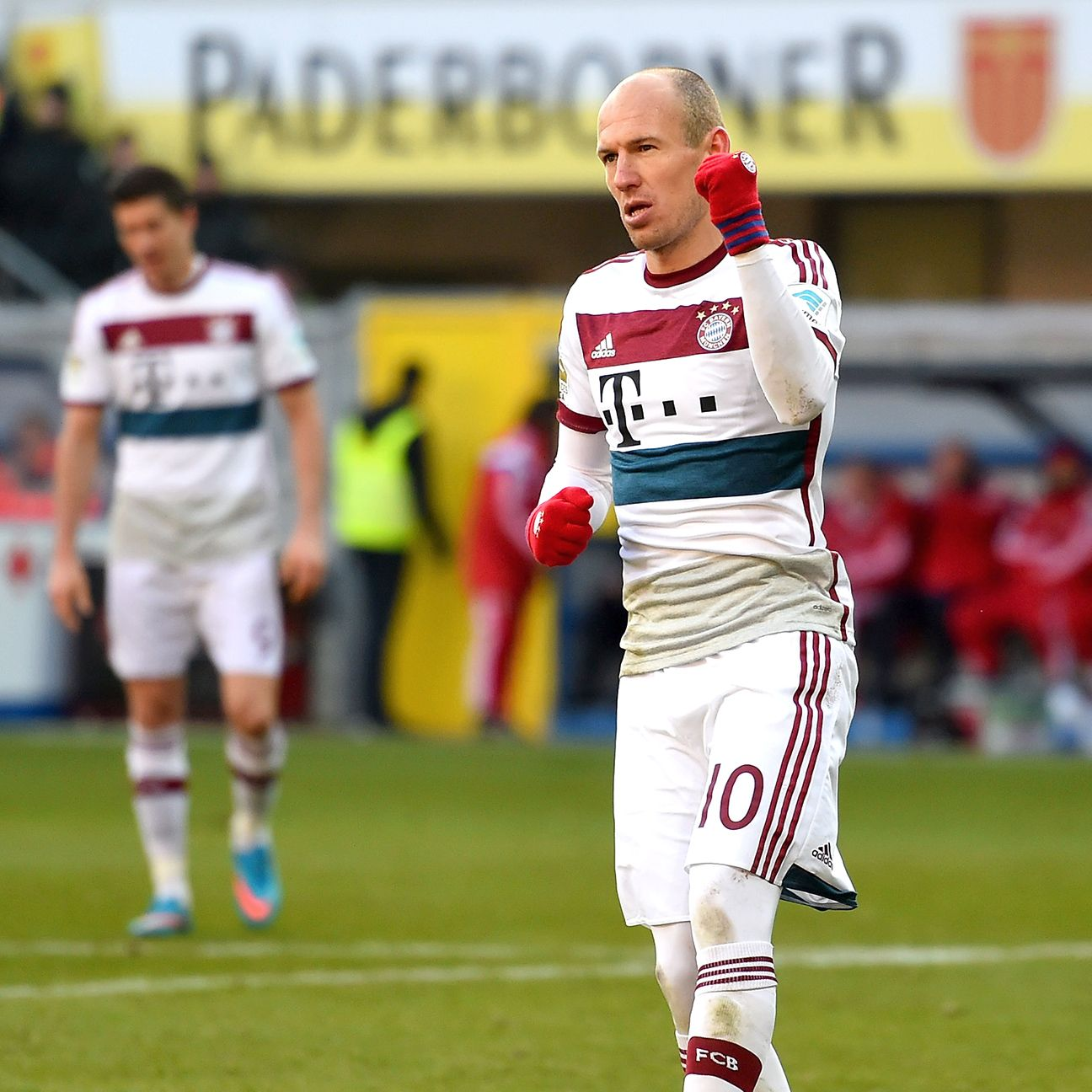 Arjen Robben was rock solid in registering a brace in Bayern's romp at Paderborn.