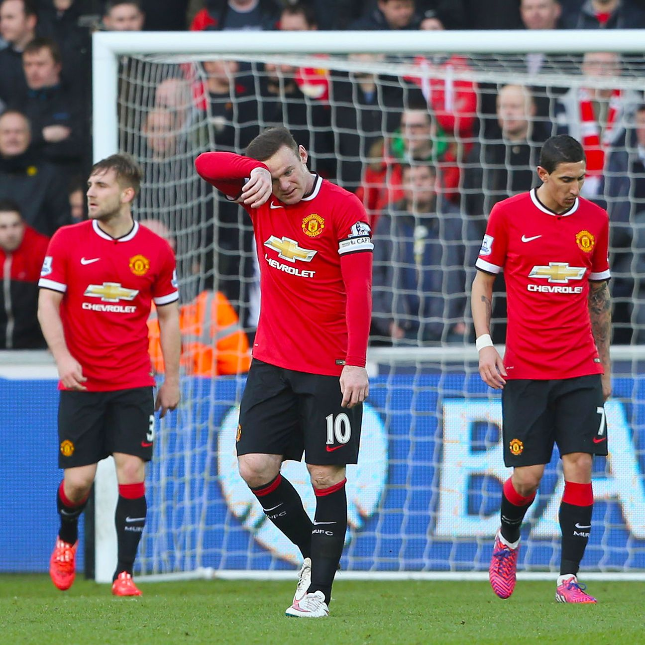 It was dejection again for Wayne Rooney and Manchester United against Swansea, as Louis van Gaal's men lost to the Welsh side for the second time this season.