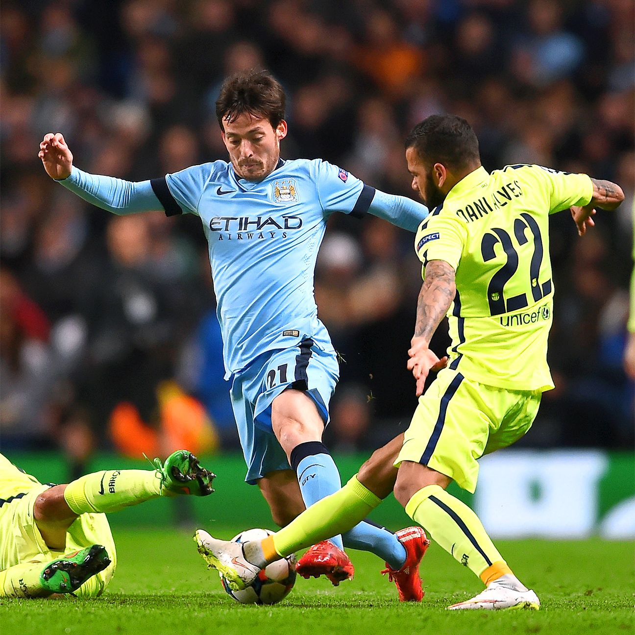 David Silva produced a slick backheel to set up City's lone goal.