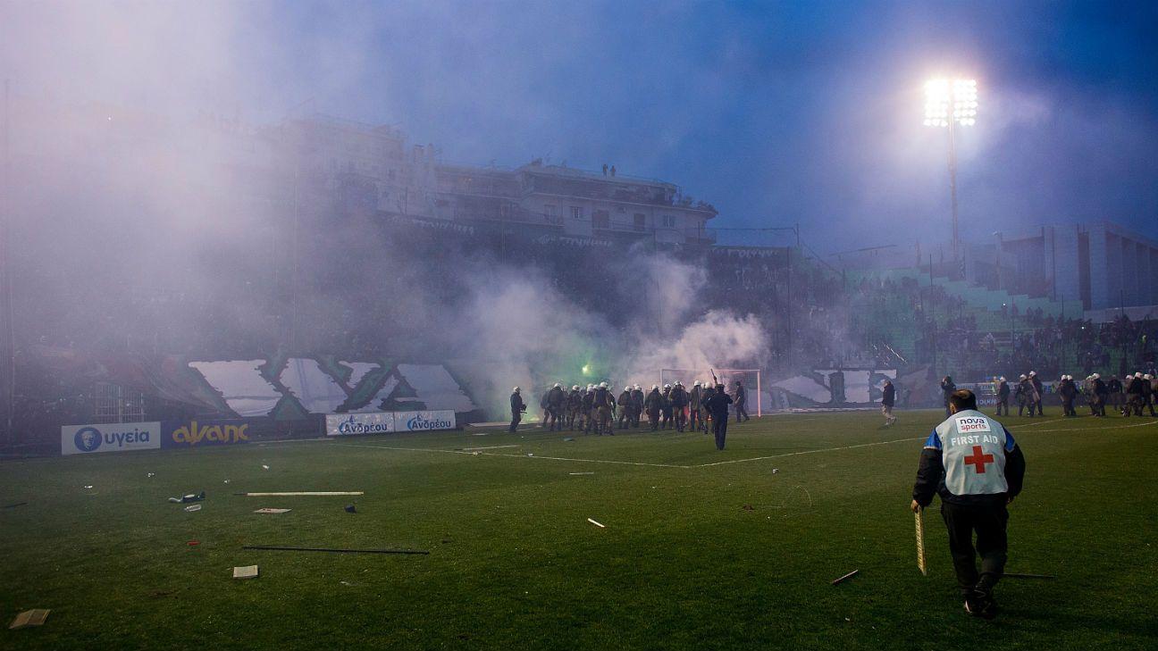 Greek leagues suspended indefinitely over violence