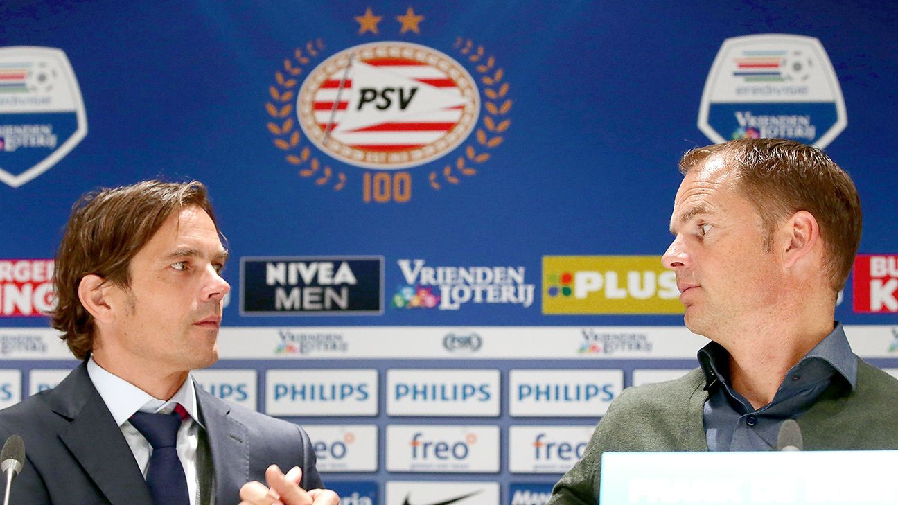 Phillip Cocu's PSV can all but clinch the Eredivisie with a victory this weekend over Frank de Boer's Ajax.