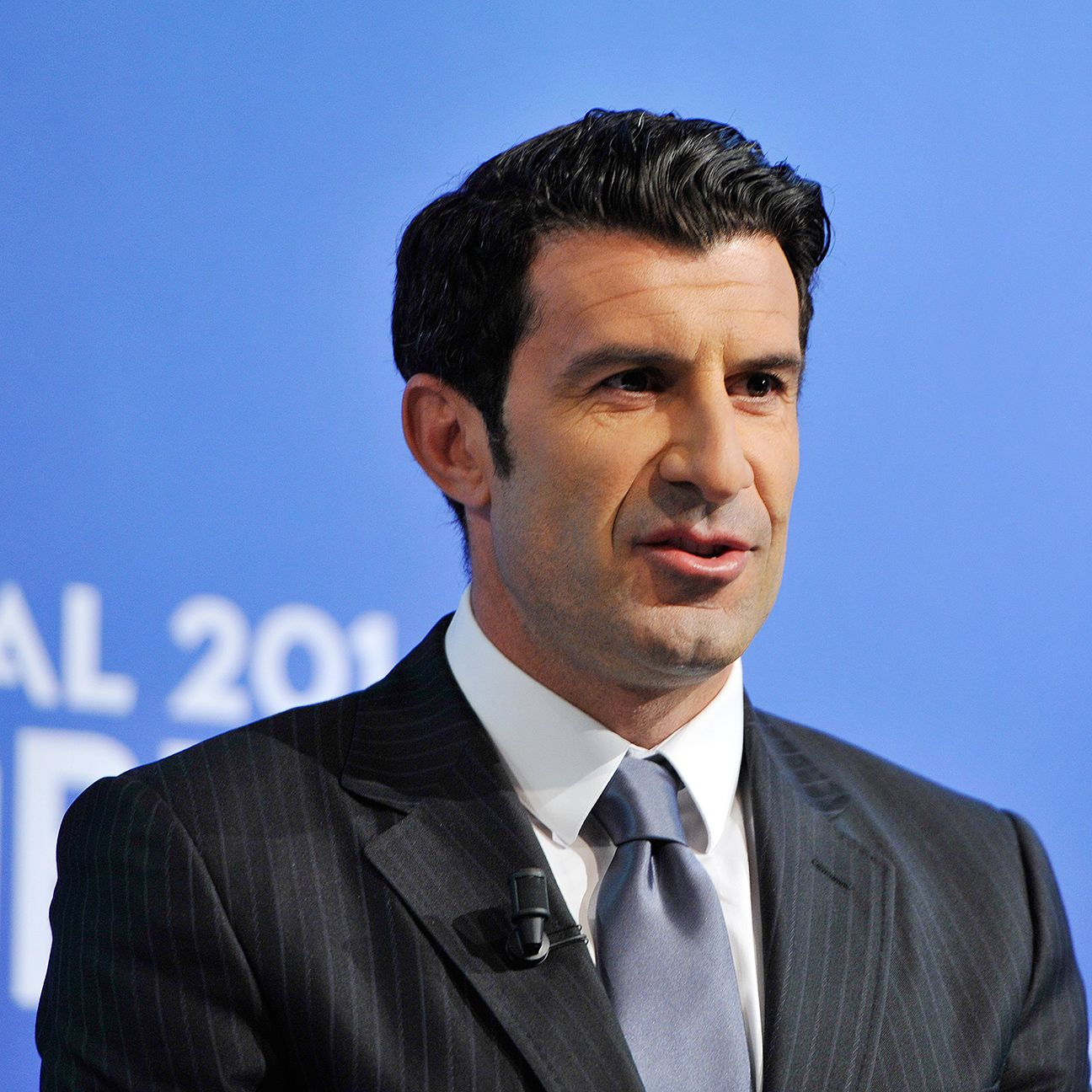 Luis Figo is hoping that his playing past will be an asset during the election.