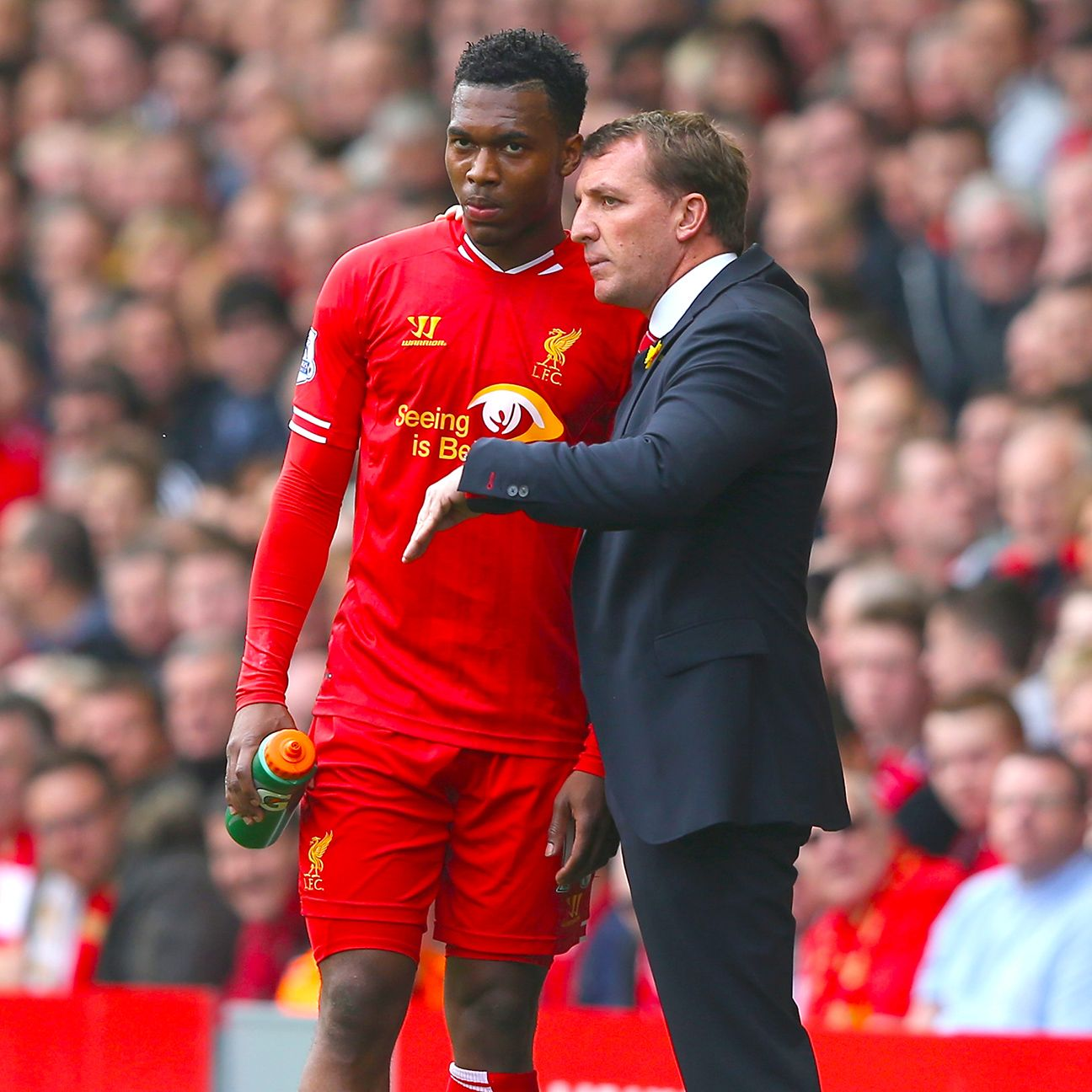 It remains to be seen exactly where manager Brendan Rodgers will play Daniel Sturridge on Sunday.