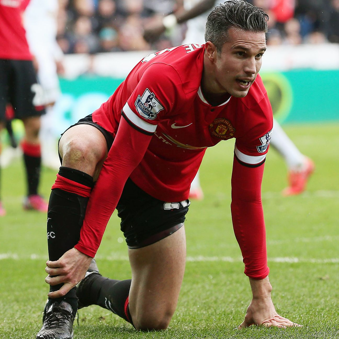 Robin van Persie's injury struggles continued after going down last week at Swansea.