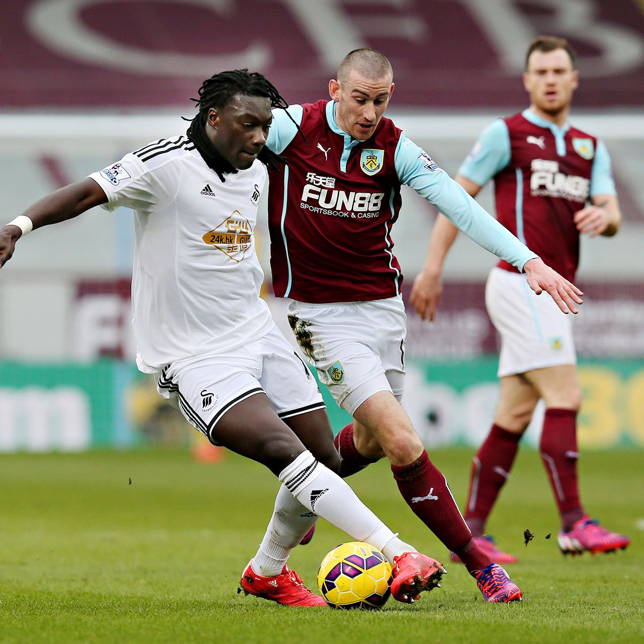 Swansea reaped the rewards of Bafetimbi Gomis' efforts up front versus Burnley on Saturday.