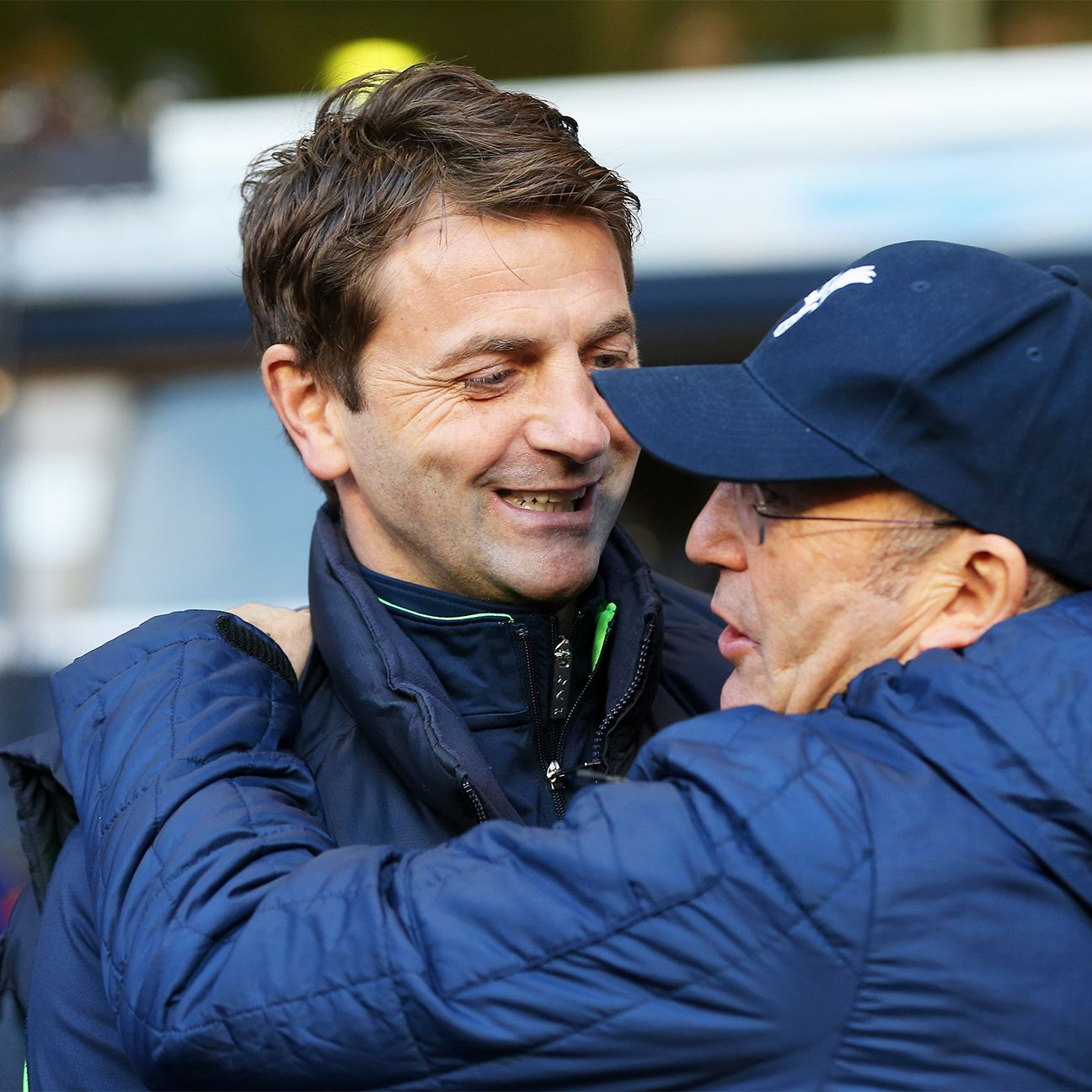 Aston Villa fans hope that Tim Sherwood, left, can replicate the success enjoyed thus far by Tony Pulis, right, at West Brom.