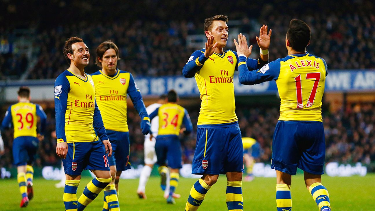 When Arsenal score, it usually comes in bunches, like the two goals in five minutes in Wednesday's win at QPR.