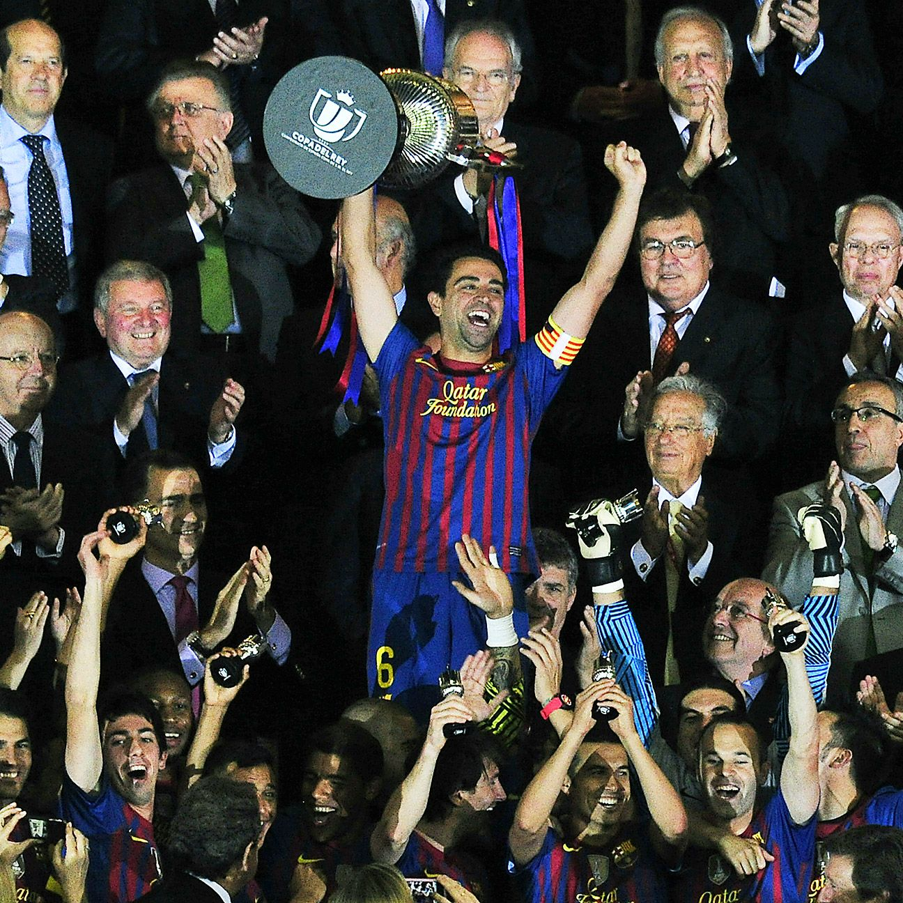 Xavi and Barcelona last lifted the Copa del Rey in 2012, won at the Mestalla Stadium in Valencia.