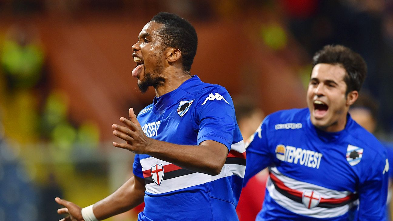 Samuel Eto o s Sampdoria farewell letter copy and pasted ESPN FC