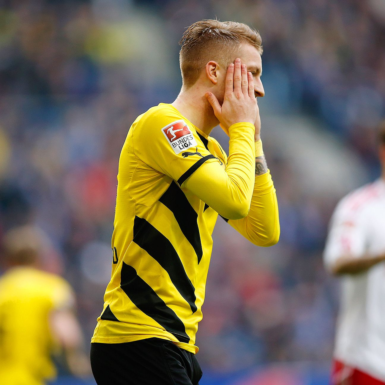 Borussia Dortmund's four-match Bundesliga winning streak came to an end in Saturday's 0-0 draw at Hamburg.
