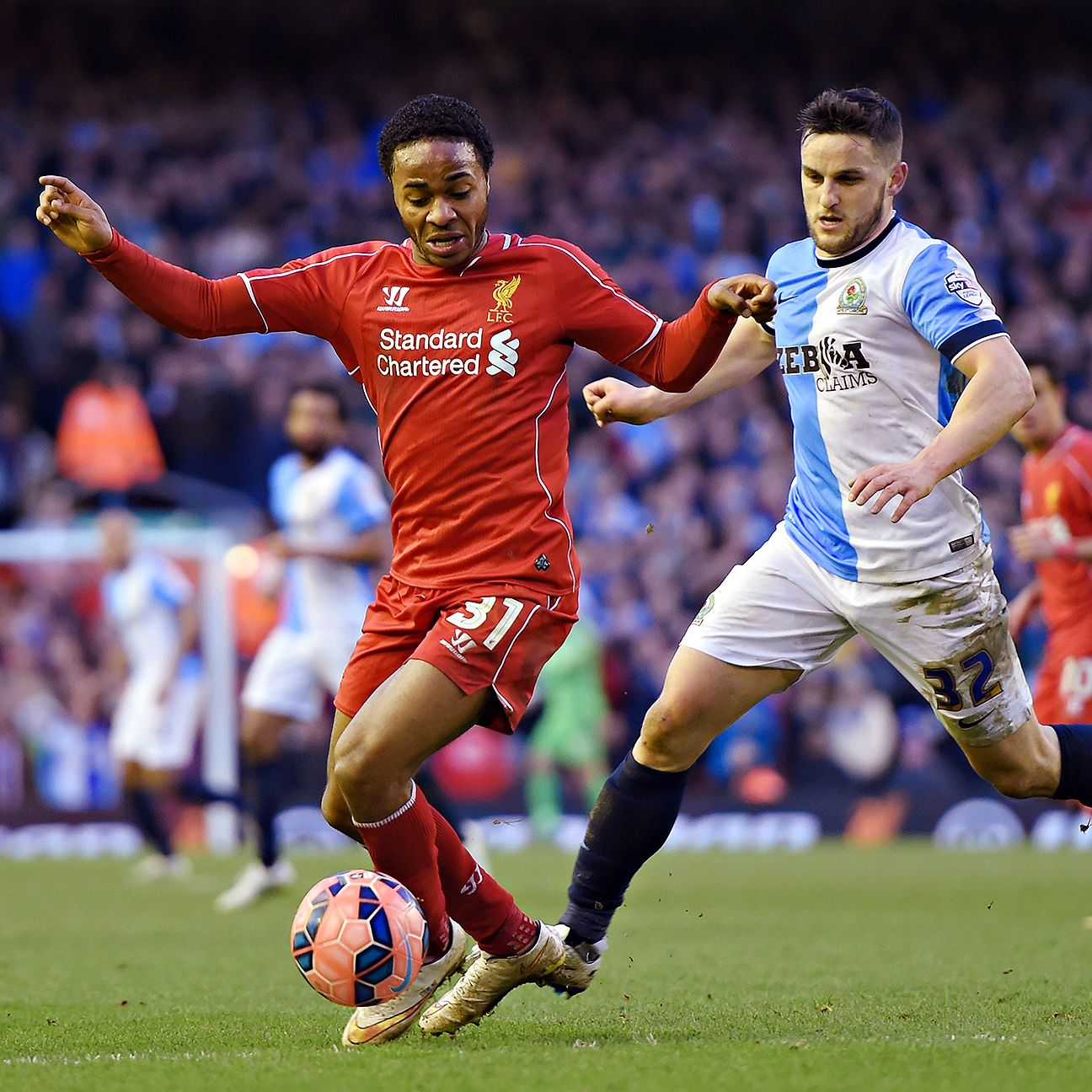 Raheem Sterling was limited out wide in Sunday's scoreless draw at Anfield.
