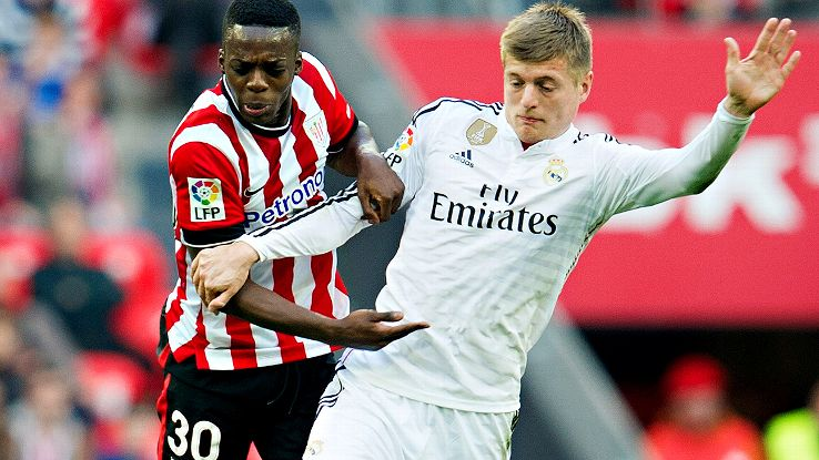 The speed and pressure showcased by Inaki Williams and the Athletic attack proved difficult to counter for the exhausted Toni Kroos.