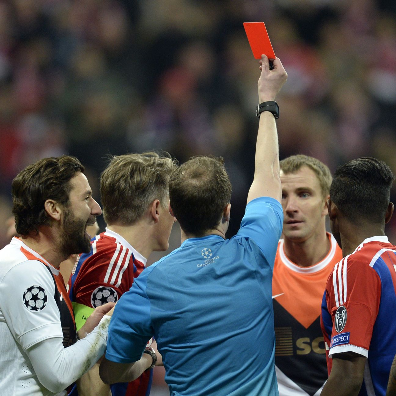 Bayern's job versus Shakhtar Donetsk was made much easier thanks to Olexandr Kucher's third minute red card.