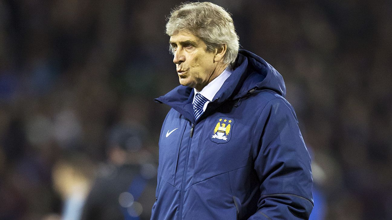 Despite injuries to key players, Manuel Pellegrini still has Manchester City sitting atop the Premier League.
