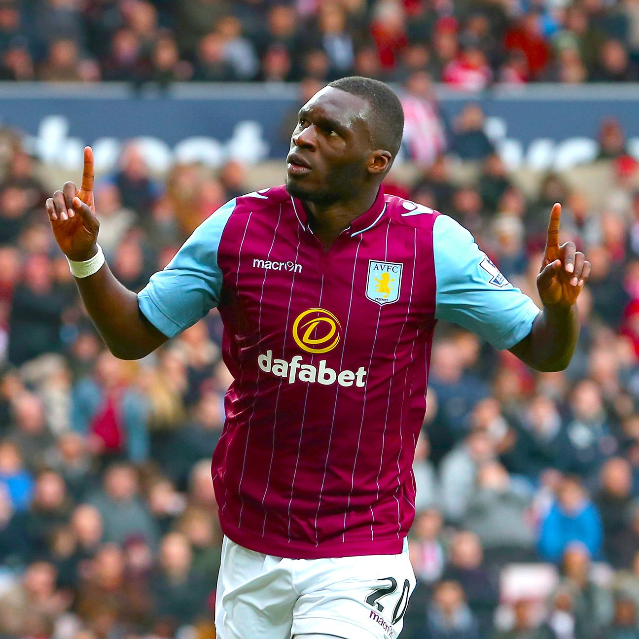 Striker Christian Benteke will be looking to add to his 10-goal total in Aston Villa's crucial home date with Everton.