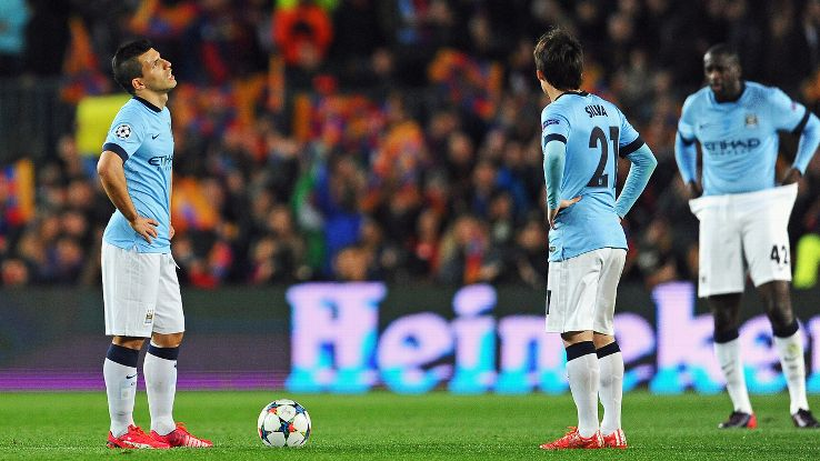 Manchester City's recent struggles could see them miss out on next season's Champions League entirely.
