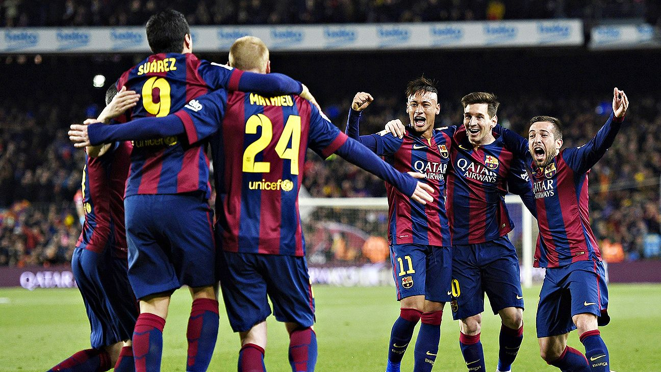 Barcelona beats real in el clasico to take four point advantage atop la liga table espn fc - Point table of spanish la liga ...