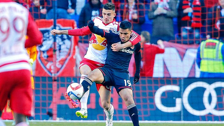 Red Bulls center back Matt Miazga, left, could start for the U.S. in its upcoming Olympic qualifying matches.