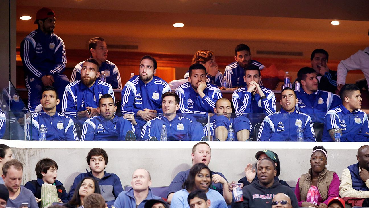 Lionel Messi and Argentina attend Wizards game ahead of friendlies