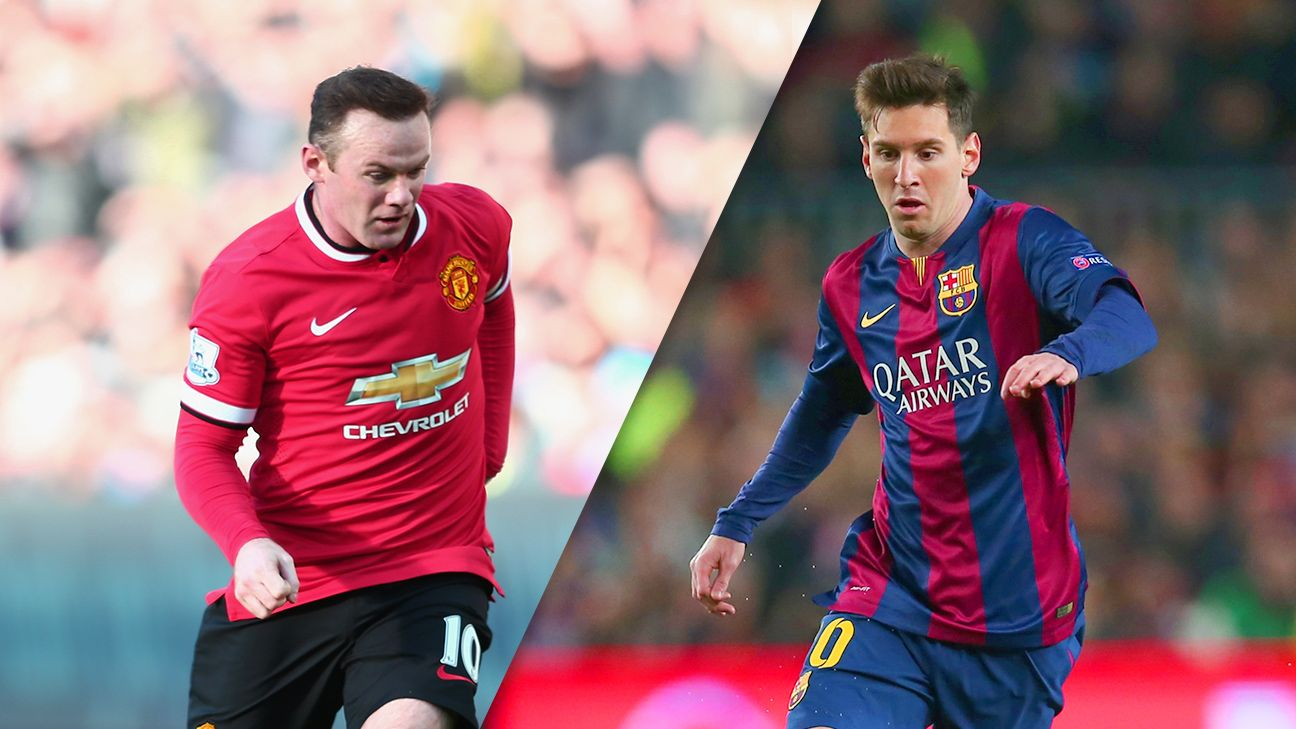 How Lionel Messi and Wayne Rooney think on the field