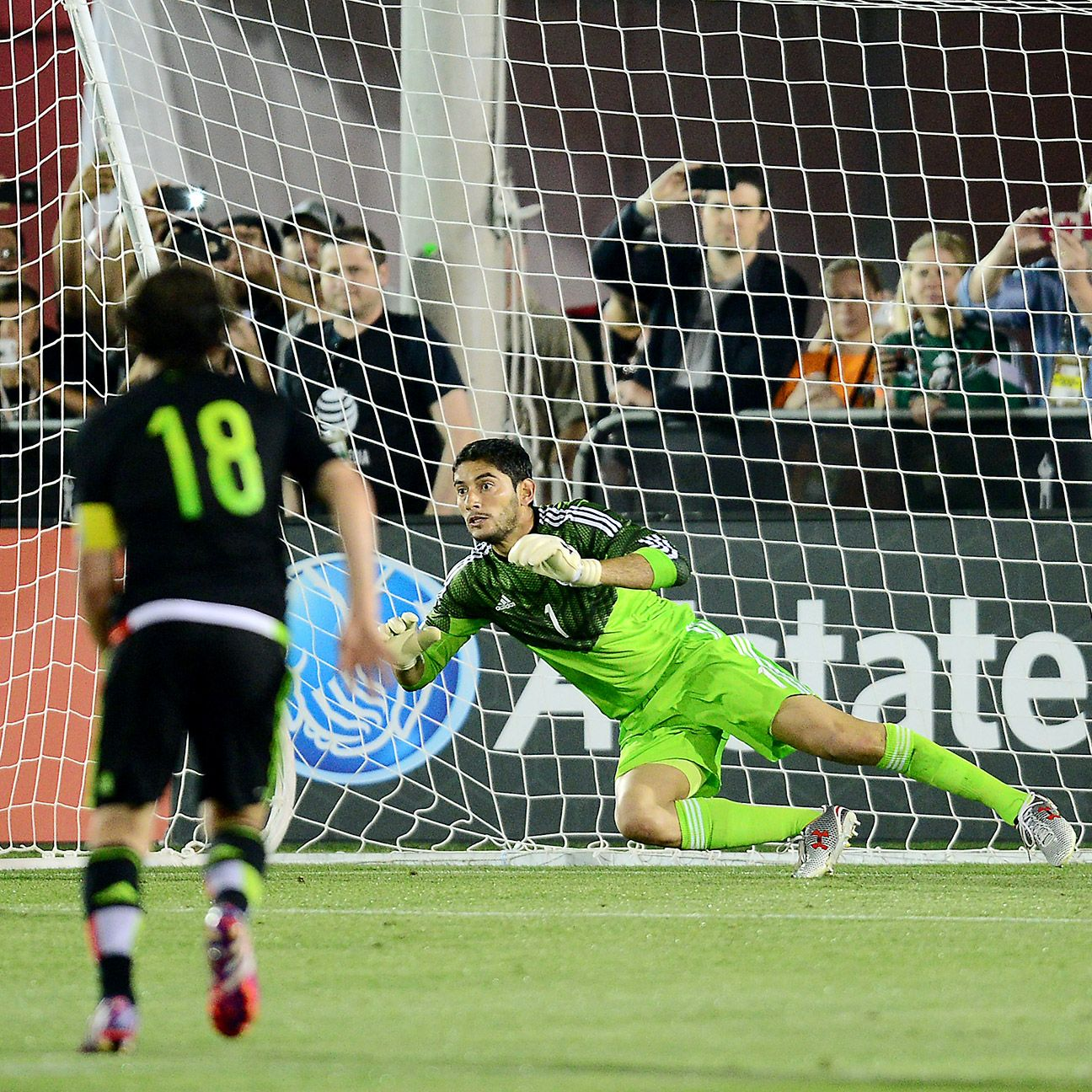 Goalkeeper Jesus Corona capped his stellar night by saving a second half penalty.