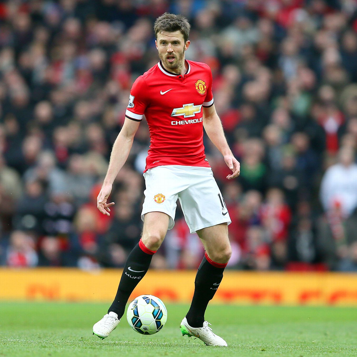 Michael Carrick Manchester United midfield Andy Mitten ...