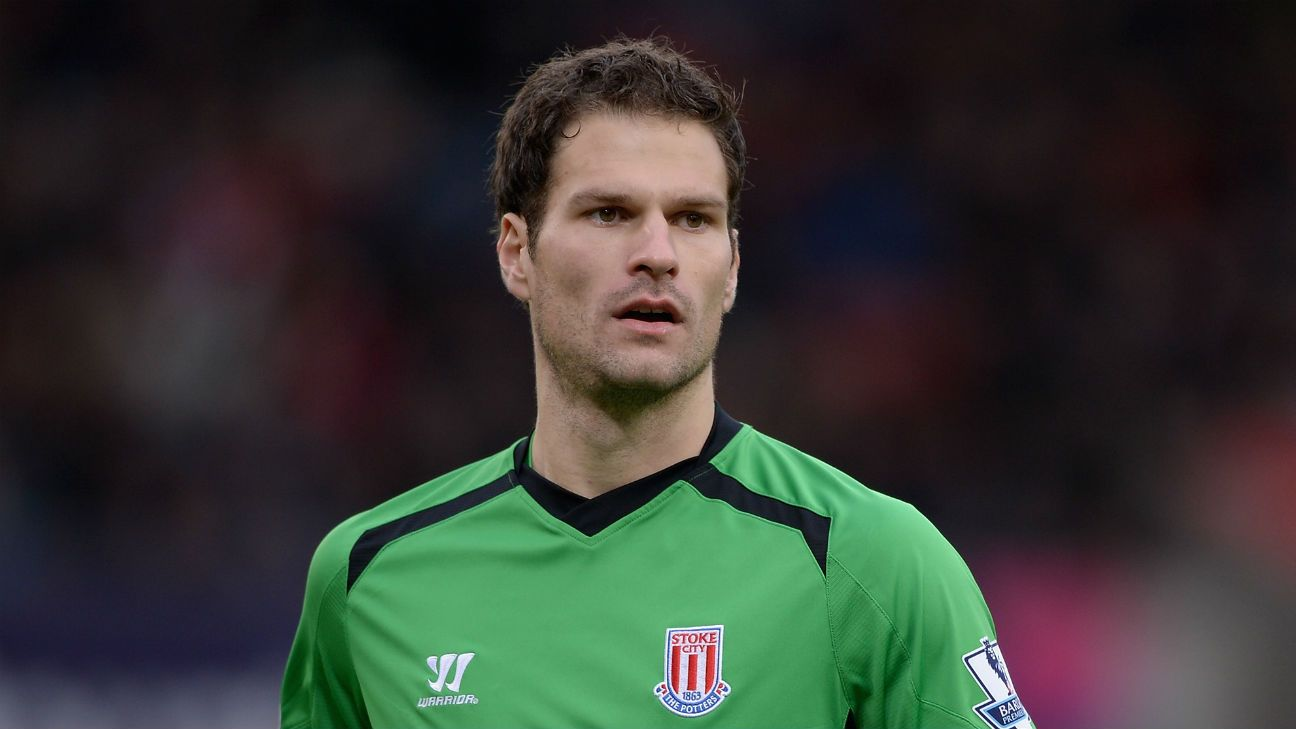 Asmir Begovic started 35 matches in goal for Stoke during the club's 2014-15 Premier League campaign.