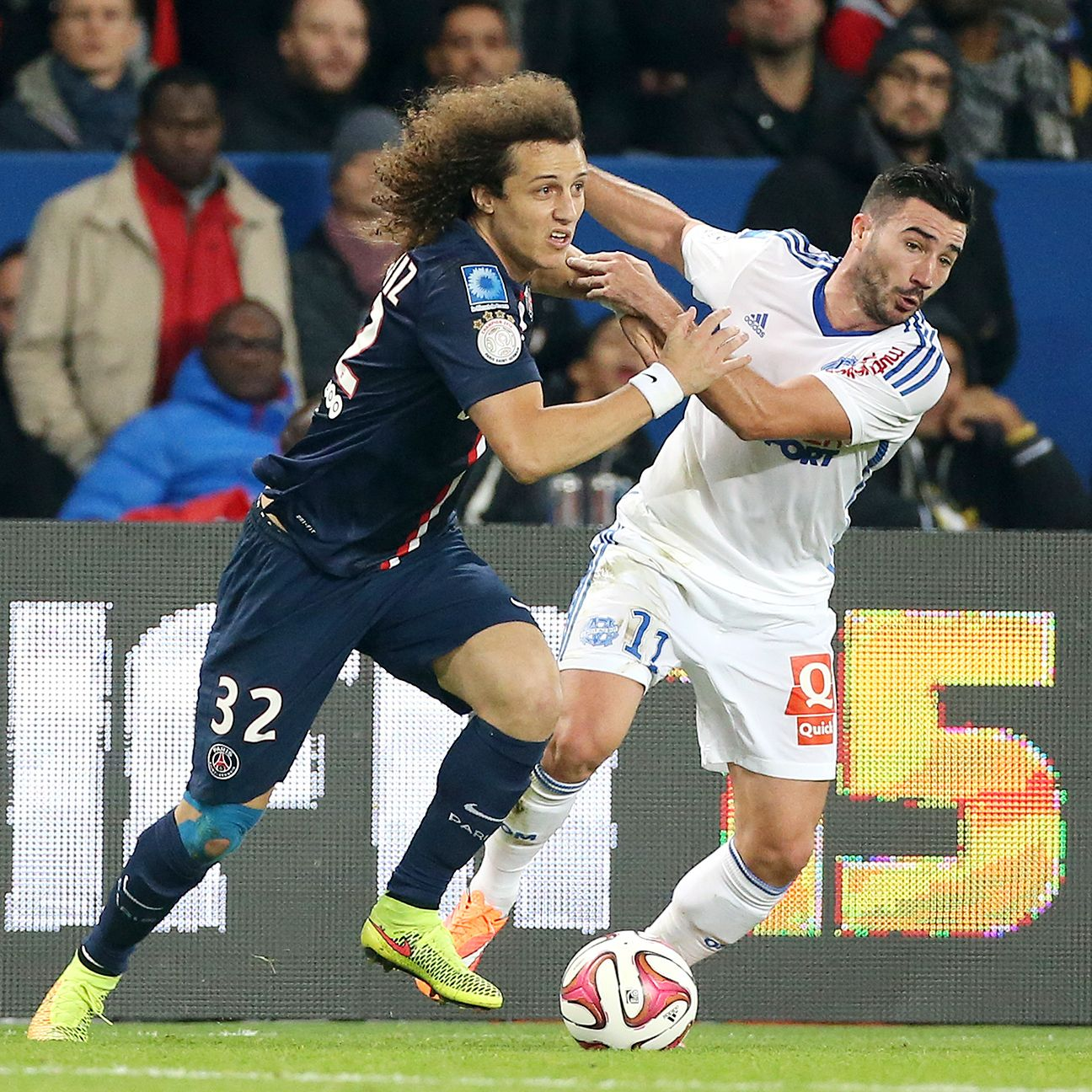 David Luiz and PSG can expect another tough battle with rivals Marseille on Sunday.