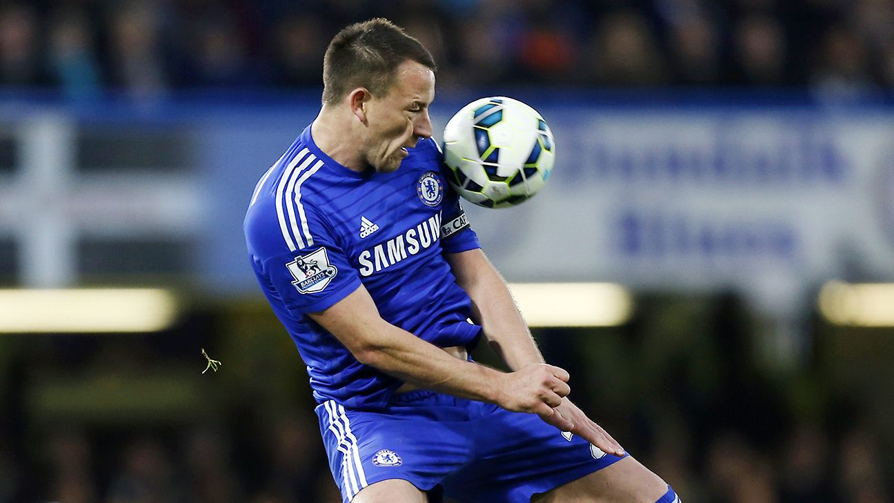 Chelsea's back line, led by John Terry, allowed Stoke few very chances going forward in attack.