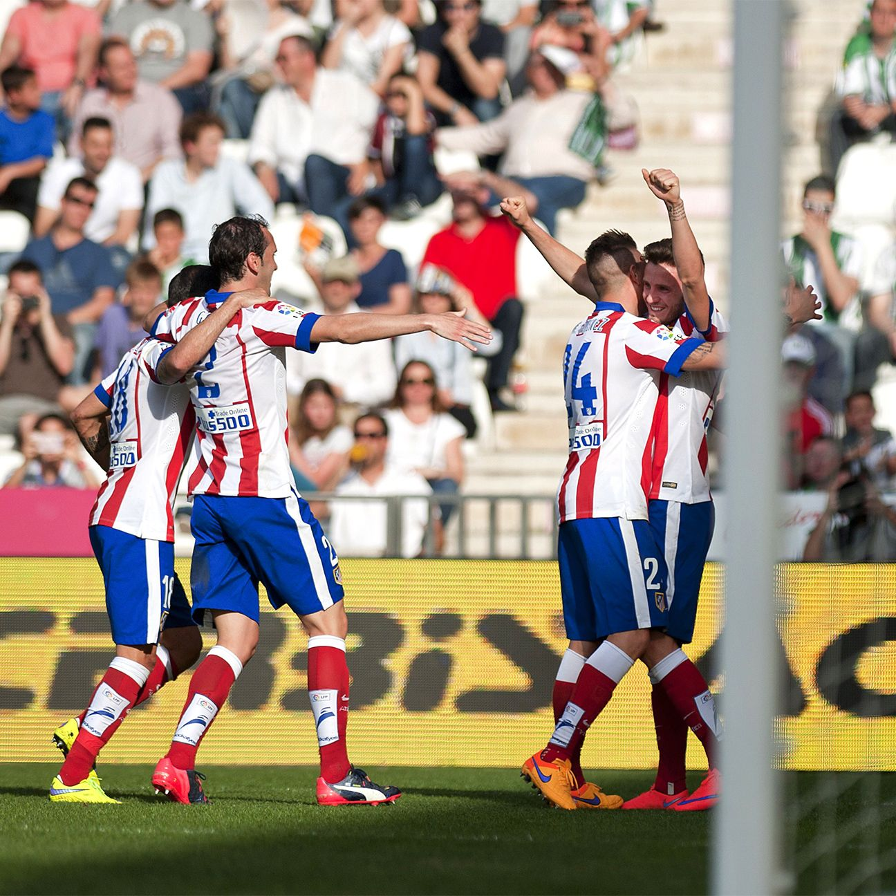 Saul Niguez scored his first goal in nearly two months for Atletico.