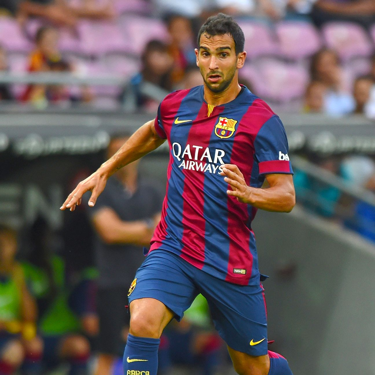 Playing opportunities for defender Martin Montoya were few and far between during Barcelona's 2014-15 season.