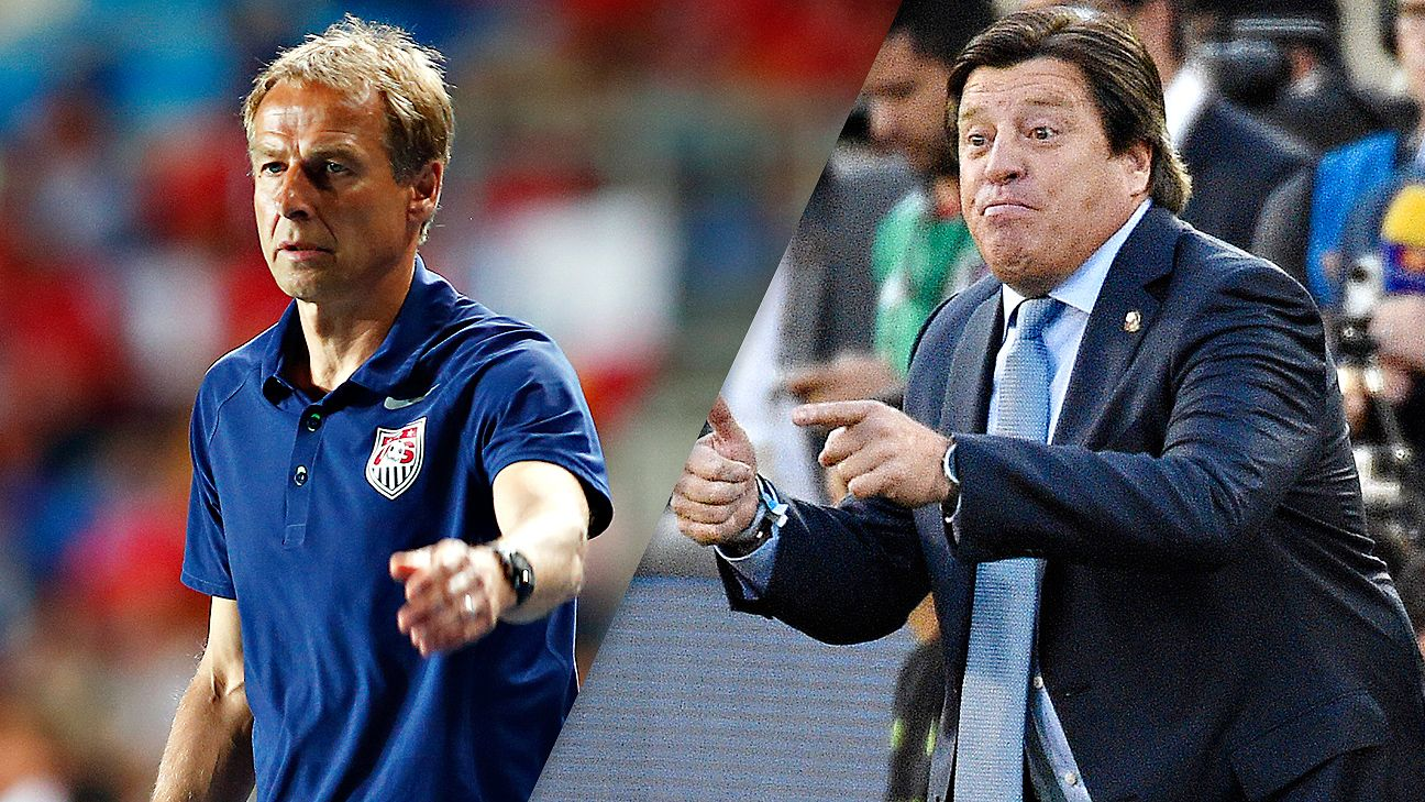 Jurgen Klinsmann and the U.S. are Gold Cup title favorites over Miguel Herrera and Mexico heading into the knockout round.